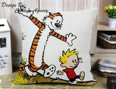 Calvin and Hobbes Case M Pillow Case One Side/Two Side