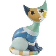 MIKA Wachtmeister Cat Porcelain Colorful Whimsical $60 value CLEARANCE | eBay