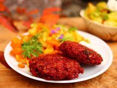 Karbanátky z červené řepy — Sama doma — Česká televize Tandoori Chicken, Main Dishes, Paleo, Beef, Ethnic Recipes, Food, Main Course Dishes, Meat, Entrees