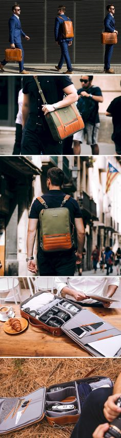 The 48Hr Switch allows you to switch between work, play and travel by putting a backpack, messenger-bag, and briefcase all in one.