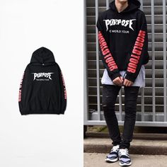 2016 Justin Bieber Purpose The World Tour Hoodie Sweatshirt Pullover Unisex Coat #Unbranded #Hoodie