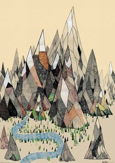 mountain town- reminds us of FDmobile artwork!