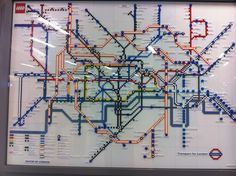 150 Years Of The London Underground Map. In Lego.