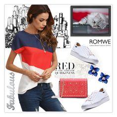 """ROMWE 4/VI"" by samra-dzabija ❤ liked on Polyvore featuring Americanflat"