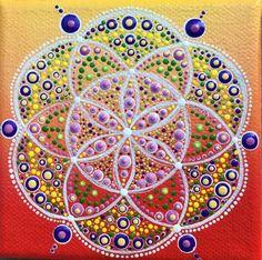 Original punto arte Mandala - amanecer de verano australiano - gastos de envío gratis en Australia sólo