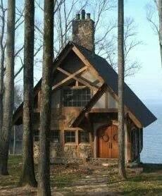 150 Lake House Cottage Small Cabins Check Right Now 94 Little Cabin, Little Houses, Tiny Houses, Cabin Homes, Log Homes, Cabins And Cottages, Small Cabins, Log Cabins, Rustic Cabins