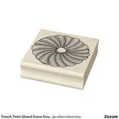 French Twist Glazed Donut Doughnut Breakfast Stamp