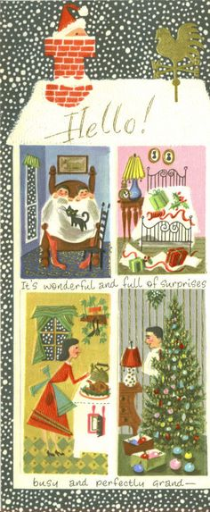 Vintage Christmas card *1500 free paper dolls for Christmas gifts Arielle Gabriels The International Paper Doll Board also free Asian paper dolls at The China Adventures of Arielle Gabriel *