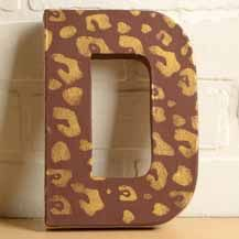 Cathie and Steve's DIY Animal Print Stenciled Letter