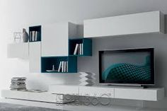 19 Impressive Contemporary TV Wall Unit Designs For Your Living Room - Top Inspirations Living Room Wall Units, Living Room Shelves, Living Room Tv, Living Room Modern, Living Room Designs, Wall Unit Designs, Tv Wall Design, Modern Wall Units, The Unit