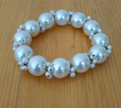Vintage Glass Pearl Beaded Bracelet with by VintageByTiffinie
