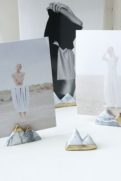 DIY photo holders.