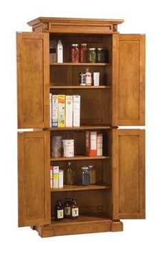 How to make use of kitchen storage cabinets effectively while remodelling? Beautiful How to store things in kitchen pantry storage cabinet? Pantry Cabinet Free Standing, Kitchen Pantry Storage Cabinet, Kitchen Cabinet Styles, New Kitchen Cabinets, Wooden Kitchen, Storage Cabinets, Rustic Kitchen, Kitchen Ideas, Pantry Ideas