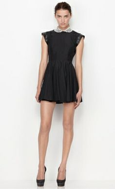 Lover The Label Southern Hemisphere Autumn Winter 2012 Clothing collection. Black dress with white peter pan collar.