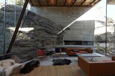 Storfjord / Jensen and Skodvin Arkitektkontor Minimalist Architecture, Contemporary Architecture, Interior Architecture, Space Interiors, Colorful Interiors, Brick And Mortar, Interior Garden, Grand Designs, House Windows