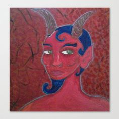 RED DEVIL 4 Canvas Print by Kathead Tarot - $85.00