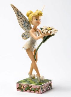 Enesco Disney Traditions Designed by Jim Shore April Tinker Bell Figurine 6 in Tinkerbell And Friends, Peter Pan And Tinkerbell, Disney Fairies, Tinkerbell Disney, Disney Figurines, Fairy Figurines, Disney Pixar, Disney Characters, Walt Disney