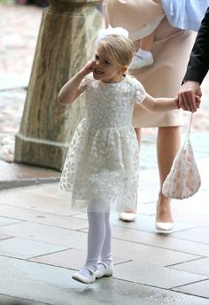 Princess Estelle of Sweden are seen at The Royal Palace for the Christening of Prince Oscar of Sweden on May 27 2016 in Stockholm Sweden