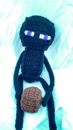 Minecraft Enderman plush. $15.00, via Etsy. ~which i can most certainly make myself.