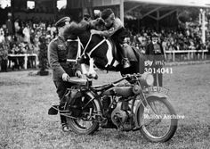 Title:	 Hitler Youth Horst Hoppe Jumps Motorcycle on Pony Caption:	 Hitler Youth member Horst Hoppe jumps a motorcycle on a pony during the Hitler Youth Games, Germany, July 12, 1936. (Photo by Hulton Archive/Getty Images) Date created:	 12 Jul 1936