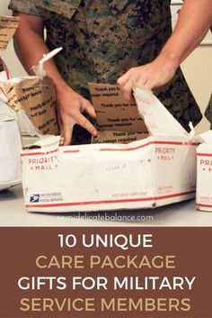 10 Unique Care Package Gifts for Military Service Members gift packaging 10 Unique Care Package Gifts for Military Service Members Soldier Care Packages, Deployment Care Packages, Deployment Gifts, Military Deployment, Military Spouse, Military Service, Soldier Care Package Ideas, Military Pregnancy, Military Girlfriend