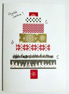Washi tape christmas card / Washi teippi joulukortti kuusi Washi Tape, Christmas Cards, Playing Cards, Christmas E Cards, Xmas Cards, Playing Card Games, Christmas Letters, Game Cards, Merry Christmas Card