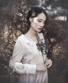 Photo: Beata Polańska Photography Title: The Thoughts of the Soul Model: Lisa Nguyen Photomodel  Mua: Dorota Ossowska Make-up Artist  Dress: Thanks for Izabella Sapuła Photography