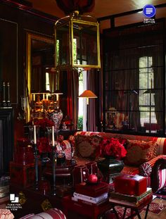 Anouska Hempel ~ her London home would love to live here for the Holidays, after that? Might get too heavy and dark!