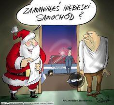 """Komiks """"Zamawiałeś niebieski samochód?"""" (źródło: http://kuku.pl)"""