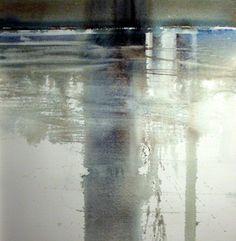 C r e a t i v e W o n d e r: Watercolors of waterscapes . . . so otherworldly to me . . . Xavier Swolfs . Zandhoven . Belgium