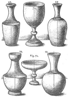 How to draw vases - shading project