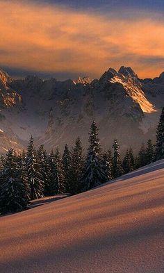 Dawn on mountain
