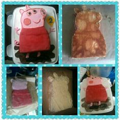 Peppa pig cake Cupcake Cakes, Cupcakes, Pig Birthday, Pig Party, Peppa Pig, Cake Art, Party Cakes, Cake Recipes, Yummy Food