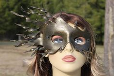 BRONZE COLORED  leather spiral mask by TBTOBEDESIGNED1 on Etsy