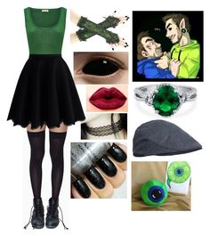 """""""Antisepticeye"""" by chilcotea201 ❤ liked on Polyvore featuring Leg Avenue, American Vintage, Chicwish, NYX and BERRICLE"""