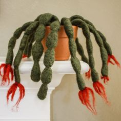 felted christmas cactus