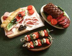 Miniature Food Feast by PetitPlat.deviantart.com on @deviantART