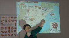 Un mapa muy especial. Mapa quesero. Guillermina Sánchez-Cerezo en la Unión Española de Catadores. Imagen Nuria Blanco @nuriblan, @UCMgastro.  (22.03.2014)