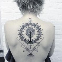 Did this motive on Grit today. #mandala #tree #treeoflife #bird #birds #stone #water #tattoo #dotwork #blackink #blackworkers #geometry #geometric #geometrictattoo #lightworkers #lightworkerstattoo #andymaberlin #ink #inked #mandalatattoo #symmetry #symmetrical #btattooing #beautiful_mandalas