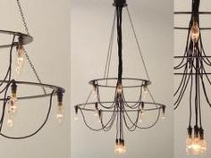10 Easy Pieces: Modern Chandeliers - Remodelista,Farol Chandelier, via 10 Easy Pieces: Modern Chandeliers The very best chandelier is usually the one with adjustable height When you have a small kitc. Industrial Chandelier, Diy Chandelier, Modern Chandelier, Industrial Lighting, Home Lighting, Modern Lighting, Lighting Design, Pendant Lighting, Modern Industrial
