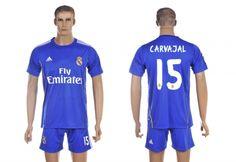 Maillot Real Madrid Carvajal 15 Extérieur 2013-2014
