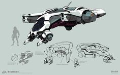 ArtStation - Mass Effect Andromeda - Angara Fighter, Brian Sum Concept Ships, Armor Concept, Weapon Concept Art, Concept Cars, Spaceship Art, Spaceship Design, Futuristic Motorcycle, Futuristic Cars, Character Concept