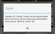 Google Play Error [RPC:S-5:AEC-0] how to solve it, guide and Fix