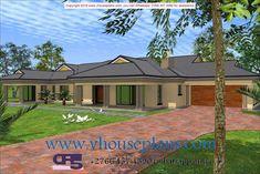RDM5 HOUSEPLAN NO W1917 Tuscan House Plans, My House Plans, Family House Plans, Country House Plans, Modern House Plans, 6 Bedroom House Plans, Single Storey House Plans, House Construction Plan, Double Story House