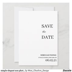 Modern Wedding Save The Dates, Minimal Wedding, Elegant Wedding, Perfect Wedding, Save The Date Invitations, Graduation Invitations, Zazzle Invitations, Save The Date Photos, Save The Date Cards