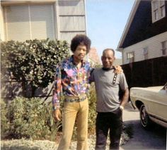 Jimi and Al Hendrix, Seattle 1968