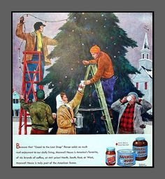 1947 Vintage Christmas ad for Maxwell House ... | Vintage Christmas