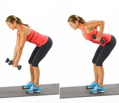 13 Best Dumbbell Exercises For Strong, Chiseled Arms Get ready to feel this in your upper back and triceps: Bent-Over Row. 13 Best Dumbbell Exercises For Strong, Chiseled Arms Get ready to feel this in your upper back and triceps: Bent-Over Row. Arm Exercises With Weights, Best Dumbbell Exercises, Back Exercises, Dumbbell Workout, Toning Exercises, Hamstring Exercises, Workout Circuit, Isometric Exercises, Chest Exercises