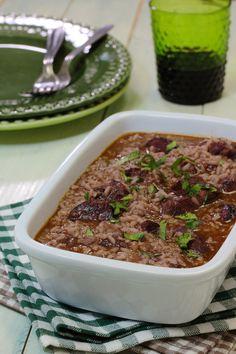 Cinco Quartos de Laranja: arroz de entrecosto em vinha de alhos