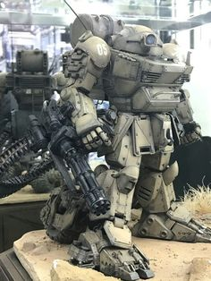 "A place to show off your kitbashed models, miniatures or anything similar. A ""Kitbash"" is the combination. Arte Steampunk, Steampunk Airship, Combat Suit, Mecha Suit, Sci Fi Models, Custom Gundam, Mecha Anime, Futuristic Art, Super Robot"